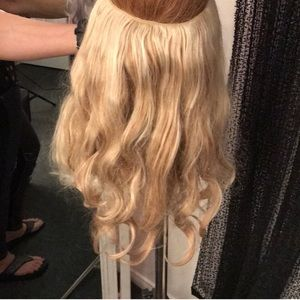 Halo hair extensions 16 in synthetic